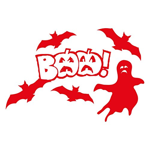 1336_R Wandaufkleber Halloween decorations, BAA! (Red)