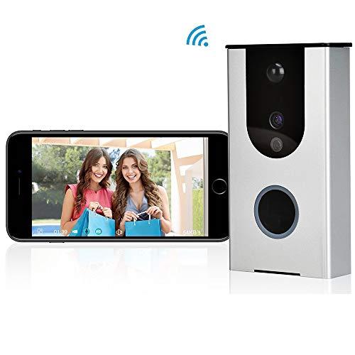 WFGZQ Drahtlose Video-Türklingel, Wi-Fi-Türklingel, Walkie-Talkie-Überwachungskamera, Weitwinkel 166
