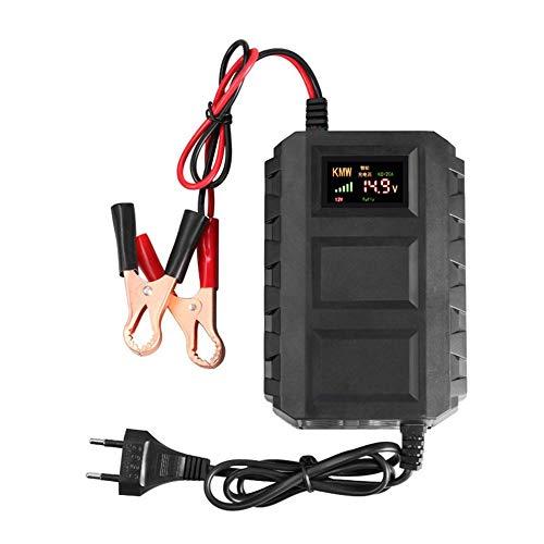 CHOULI Intelligentes 12V 20A Autobatterie-Blei-Säure-Ladegerät für Auto-Schwarzes