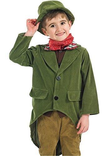 Jungen Reich Viktorianisch Charles Dickens Büchertag Kostüm Kleid Outfit 4-12 years - Grün, 10-12 (Dickens Kostüme Charles Viktorianischen)