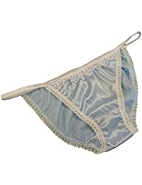 Francois de Loire Pure Silk Satin and lace French Knickers Boxers Panties Pale Pink Made in France