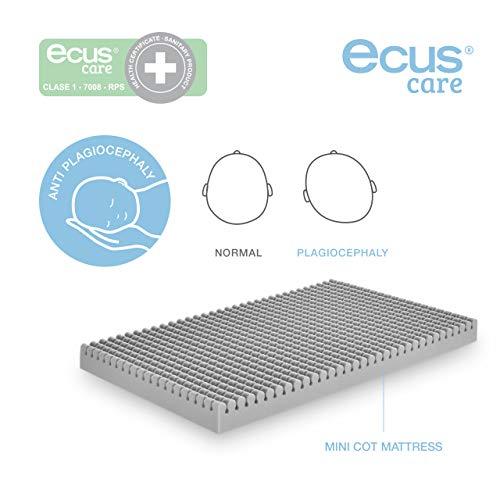Ecus Kids OXSI Ox/ígena HR Materasso da culla con cerniera perimetrale lato antiasfissia e invernale 117cm x 57cm bianco e grigio