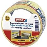 tesa 6 x Verlegeband doppelseitig 50mmx10m gelb