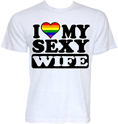 Beat Tees Clothing Funny Cool Novelty Sexy Wife Gay Lesbian Pride Flag LGBT Joke Slogan Wedding Gifts T-Shirts