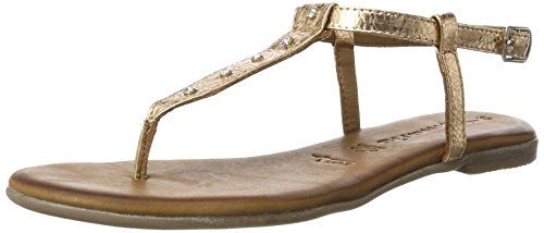 Tamaris Damen 28133 Offene Sandalen, Gold (Rose Metallic 952), 39 EU (Damen-gold-sandalen)