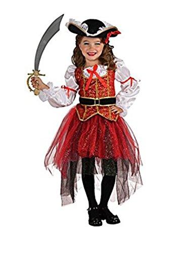 WLITTLE Halloween Kostüm Piratenkostüm Mädchen Kleid Piraten Kinder Kostüm für Halloween Fasching Cosplay Karneval Kostüm Kleidung Verkleidung (Legolas Cosplay Kostüm)