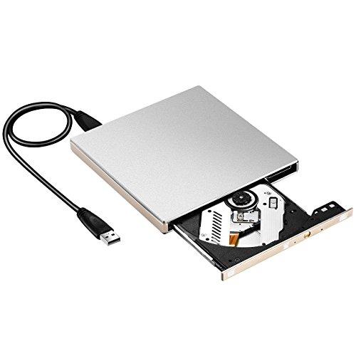 USB 3.0 Drive Ottico Masterizzatore Esterno CD/DVD-RW, per Windows 2000/2003/XP, Windows 7/8/10, Vista 7/ 8 e Tutte le Versioni di Sistemi Mac OS, PC Portale