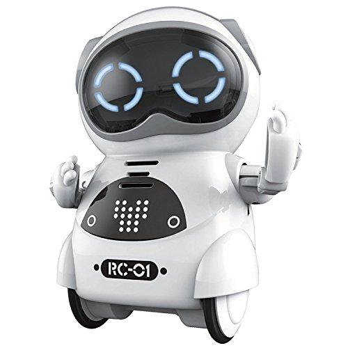 Homesupply Mini Tasche Roboter Spielzeug Pädagogisches Interaktives Gehen Singen Tanzen Smart Robotik für Kinder Jungen Mädchen-Weiß