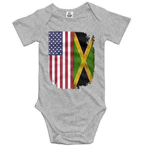 Pillow hats Jamaican American Flag Creeper Jumpsuits Short Sleeve Infant Bodysuit s - White Organic Infant Creeper