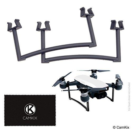 CAMKIX Extensiones Compatible con dji Spark (Gris) - Juego de Engranajes de Aterrizaje para la Altura y la Seguridad adicionales - Da a su Drone más Distancia del Suelo - Máxima Estabilidad (Gris)