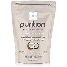 Milk-shake protéiné et diététique à la noix de coco (500 g) idéal pour la perte de poids et la récupération après l'effort - substitut de repas 100 % naturel – smoothie petit déjeuner