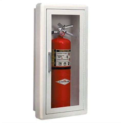 Fire Extinguisher Cabinet Ambassador Series Semi-Recessed 3 trim 24x10.5x5.5 by