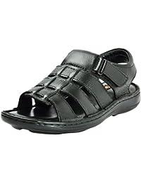 e4cb1b0efd3d ZOOM Men s Black Leather Outdoor Sandals - 7 UK