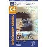 Ordnance Survey Ireland Blatt 64, Clare, Kerry, Limerick, Tarbert, Newcastle West, Rathkeale, Irland Westküste topographische Wanderkarte 1:50.000