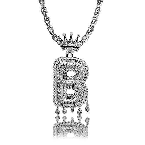 Jasmine7 Bubble Letter Halskette Crown Hip Hop Street Anhänger Modeschmuck Unisex -