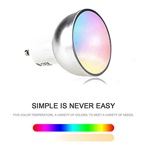 ZMM WiFi Inteligente Bombilla de luz inalámbrica GU10 LED Control Remoto Inteligente Compatible con Alexa de Google