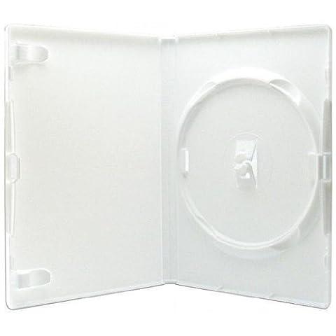 AGI AMARAY 10 X Genuine Amaray Single DVD White Case 14mm Spine - Pack of 10