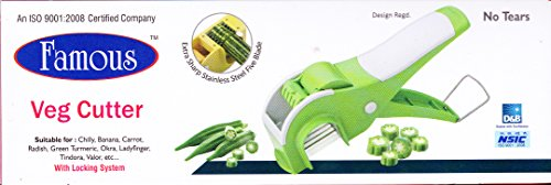 Famous Veg Cutter, Mirchi Cutter With Lock System (Color May Vary)