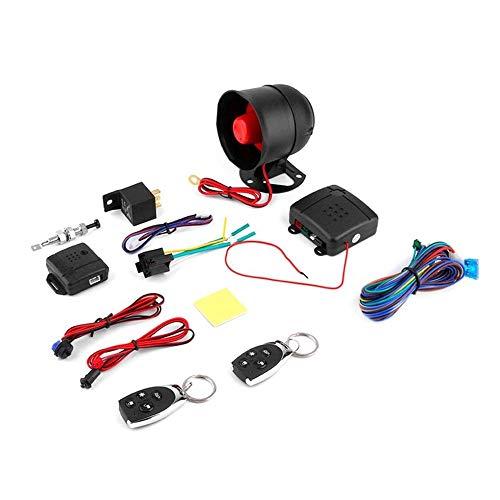 Car Vehicle Burglar Protective System Alarm Security + 2 Remote Control black -