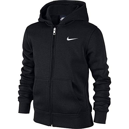 Nike - Young Athletes 76 - Brushed Sweat-shirt à capuche zippé - Mixte Enfant - Noir  (Noir/Blanc)...