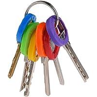 Uniclife Actualizado 36PCS llave tapas de las tapas de las etiquetas, Identificador de llave de plástico codificación de anillos en 9 colores diferentes