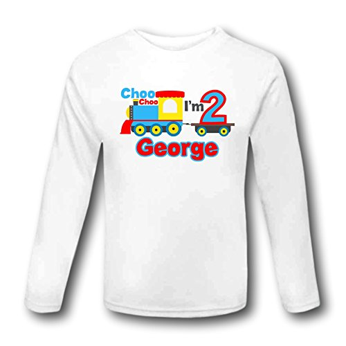 Choo Im 2 Birthday Train T Shirt Outfit Second Long Sleeved Cake Smash Personalised Gift 2nd 3 Years Top Tee