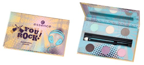 Essence YOU ROCK! Eyehadow Palette Nr. 01 Rock Chick´s Palettemit sechs Lidschatten Inhalt: 2,4g, Eyepencil Farbe: Schwarz Inhalt: 1g, Pinsel und Spiegel Eyeshadowset Lidschatten -