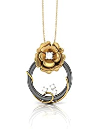 The House Of Diamonds 18KT Yellow Gold And Diamond Pendant For Women