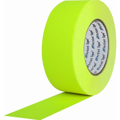 ProTapes 840178007254 Artist-Risma di carta, retro piatto/Console-Nastro lunghezza x larghezza 60 yd. 10,16 (4 cm, colore: giallo fosforescente, confezione da 48 pezzi - Console Nastro