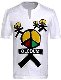 Chicos Hombres Camisetas Michael Jackson Memorial Shirts OLODUM Peace Anti War Beat It Piano Camisetas