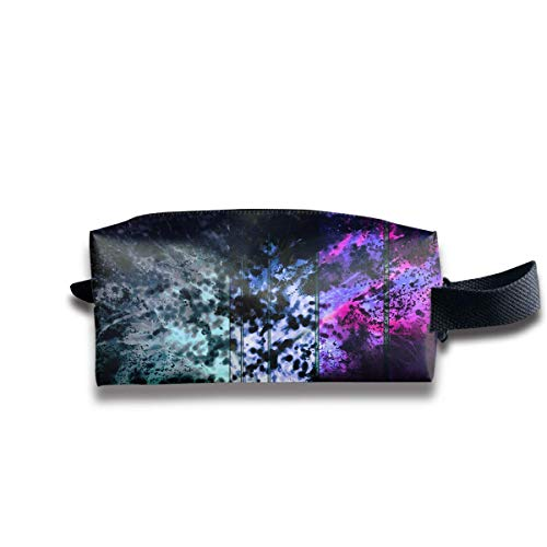 Makeup Cosmetic Bag Abstract Colorful Funky Trees Travel Make-Up Bags Pen Case Portable Storage Multi - Funky Flower Handtasche