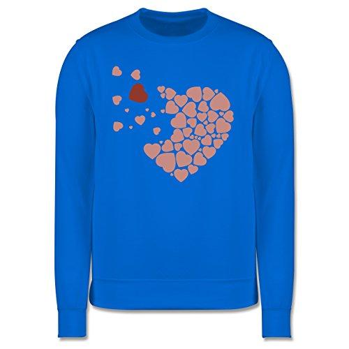 Romantisch - Herz Herzchen - Herren Premium Pullover Himmelblau