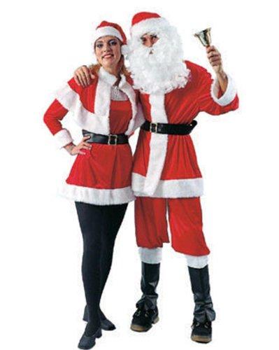 Funny Fashion 693002 - Nikolaus Anzug, Santa velvet  (Vest, pants, hat, belt), Größe 52-54