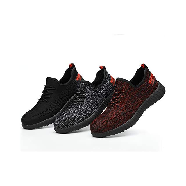 f09983b728c99 COOU Chaussures Securite Homme Femme Legere s3 Basket de Securite  Confortable Chaussure de Travail ...