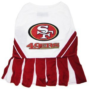 e25bc5298 Pets First SAN FRANCISCO 49ERS CHEERLEADER DOG DRESS COSTUME LICENSED NFL  (Small)