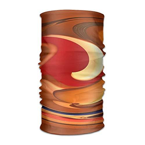 Ncutakuzvmr Spiral Orange Red Flame Original Headband with Multi-Function Sports and Leisure Headwear UV Protection Sports Neck, Sweat-Absorbent Microfiber Running, Yoga, Hiking -