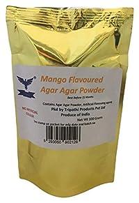 Vegetarian Mango Flavoured Agar Agar China Grass Powder 100 Grams
