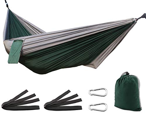 SueH Design Ultra-Leicht Hängematte aus Fallschirm Nylon Einzel/Doppel-Hängematte Tragbar für Backpacking, Camping, Wandern, Reisen, Strand, Garten, Festival - Tragbare Faltbare Hängematte