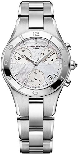 Baume & Mercier Women's 32mm Steel Bracelet & Case Swiss Quartz MOP Dial Chronograph Watch MOA10012