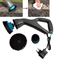 BingWS Electric Scrubber Cleaning Handhold Cleaning Brush with 3 Brush Heads for Cleaning Bathroom, Tire, BBQ Grill, Sink, Floor