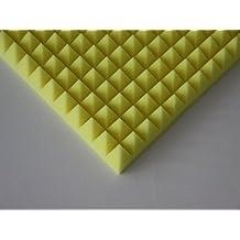 pannelli acustici Piramidi 1 x circa 49x49x5cm , pannelli acustici giallo, pannelli acustici colorati ecologici