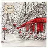 Ambiente servilletas de cena / fiesta ca.33x33 Joli Paris - Perfecto Como Regalo