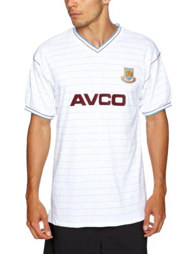 West Ham United 1986 - Maglietta da calcio originale, da trasferta, da uomo Bianco - bianco