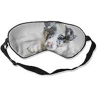 Animal Border Collie Hunde Maulkorb Baby Welpe Cute Face Mindfold Schlafmaske für Frauen Männer Mädchen Erwachsene... preisvergleich bei billige-tabletten.eu