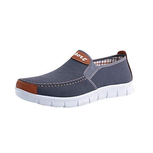 WWricotta Herren Segeltuchschuhe Freizeitschuhe Tuch Schuhe Flache Schuhe Turnschuhe Sportschuhe Sneaker Bootsschuhe Stoffschuhe