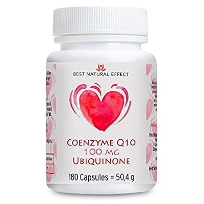 Coenzyme Q10 100mg Ubiquinone, 180 capsules (vegan), no magnesium stearates, lactose free, gluten free || Best Natural Effect by Best Natural Effect Ltd.