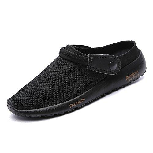 SCIEU Herren Clogs Hausschuhe Pantolette Sommer Atmungsaktiv Beach Schuhe Sandalen (Hintere Isolierung)