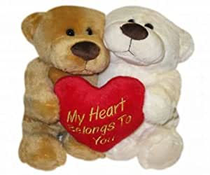 Hugging Bears with Heart for Valentines Day