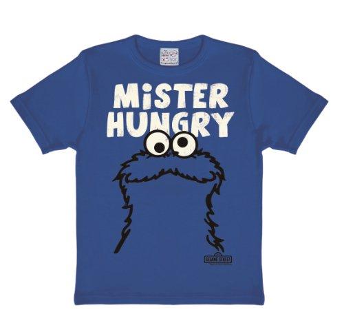 Logoshirt Jungen Hemd Sesame St. -Cookie Monster-Mr. Hungry, -