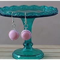Orecchini Macarons Rosa in FIMO Fosforescente Kawaii Cute Earrings Pink Jewerl Handmade Polymer clay Glowing in the dark